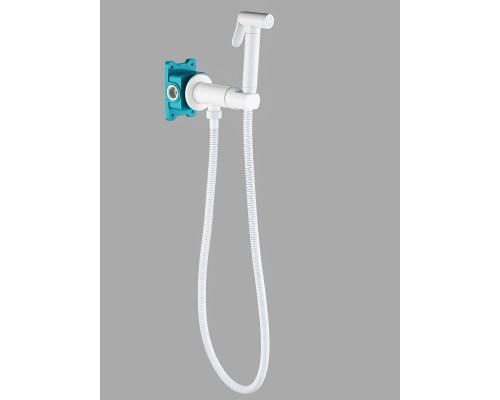Гигиенический душ с прогрессивным смесителем скрытого монтажа AGATA AL-877-06 белый