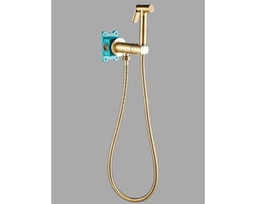 Гигиенический душ с прогрессивным смесителем скрытого монтажа AGATA AL-877-09  бронза