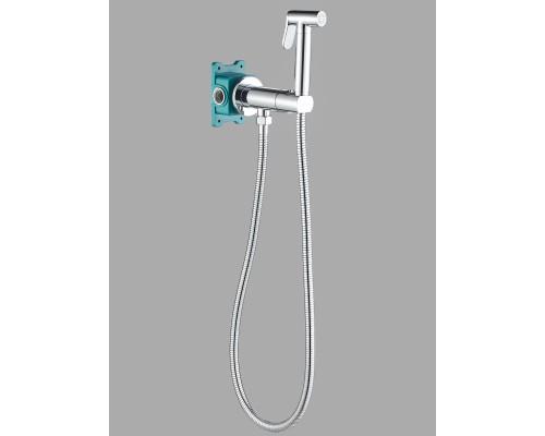 Гигиенический душ с прогрессивным смесителем скрытого монтажа AGATA AL-877-01  хром
