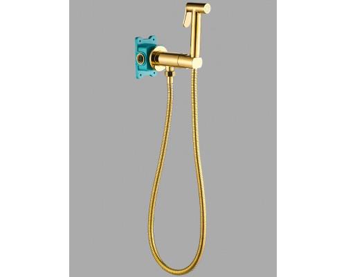 Гигиенический душ с прогрессивным смесителем скрытого монтажа AGATA AL-877-08  золото