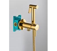 Гигиенический душ со смесителем BENITO AL-859-08  золотой